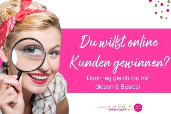Online Kunden gewinnen Jacqueline Bürker Blog
