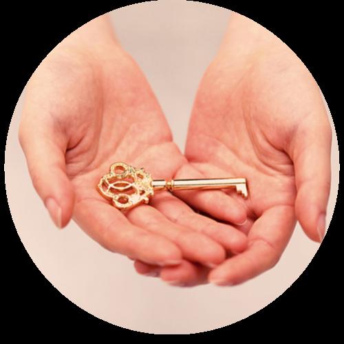 Schlüssel zur Positionierung